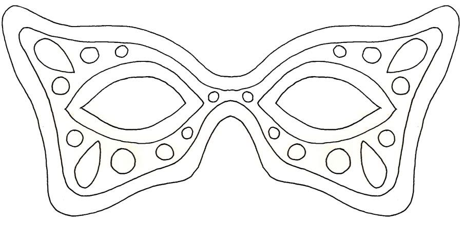 A Mardi Gras Mask Template With Spots
