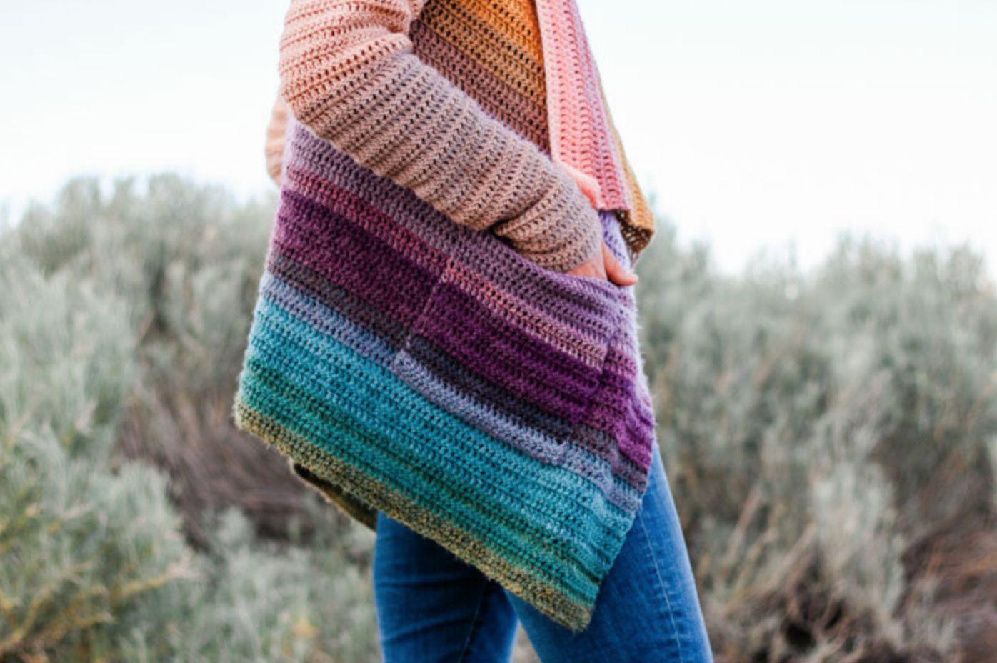 Remix Draped Cardigan Crochet Pattern