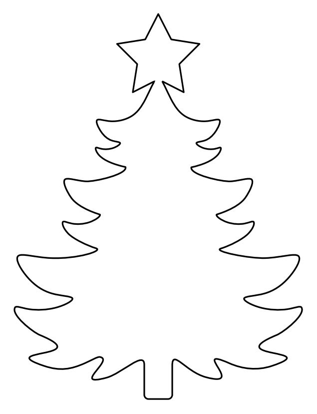 Backgroun Wall Outline Picture Of A Christmas Tree