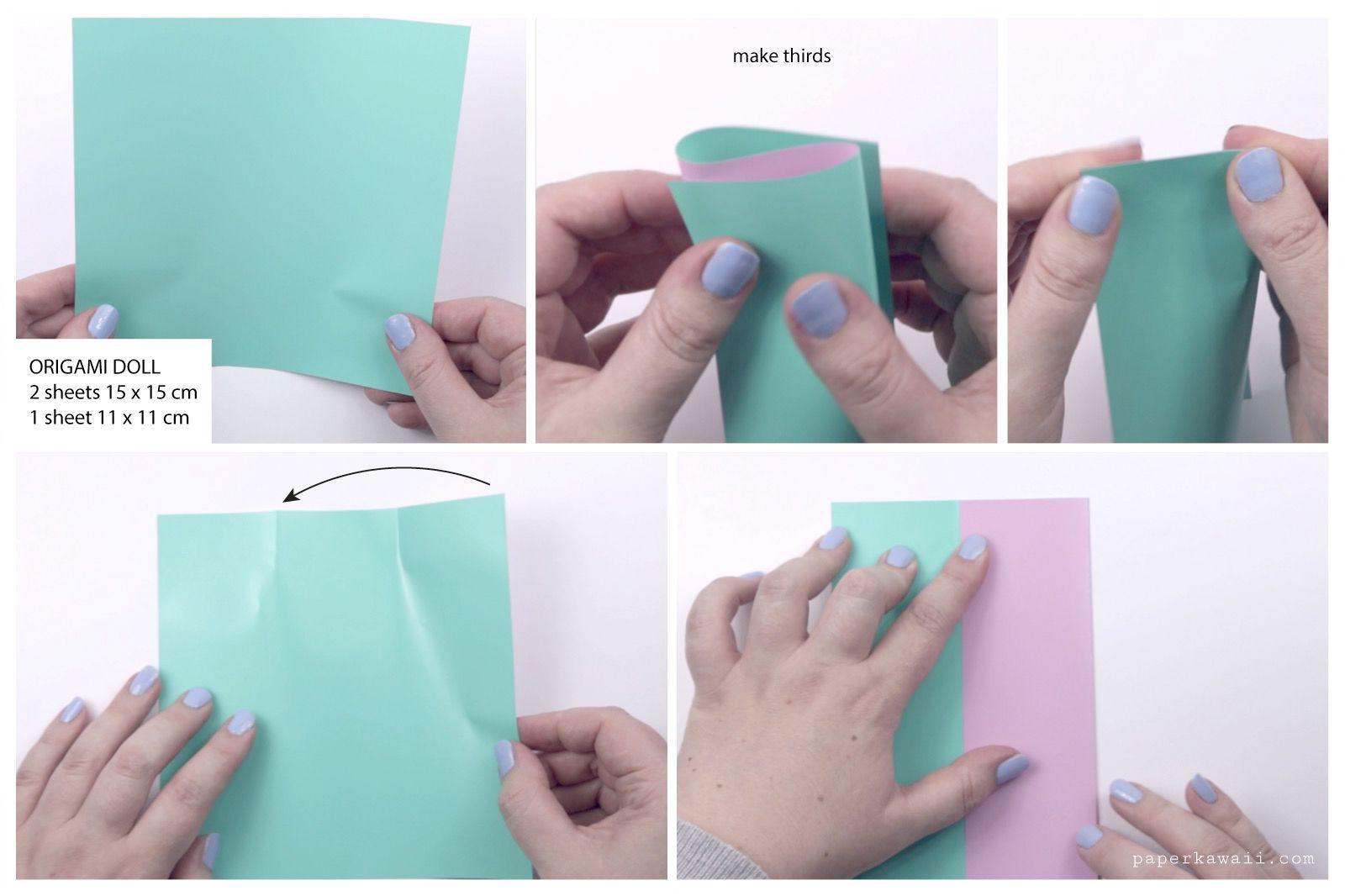 japanese origami doll tutorial 01