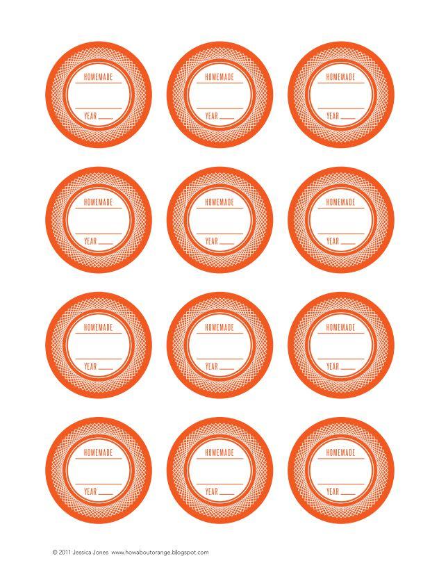 21 sets of free canning jar labels