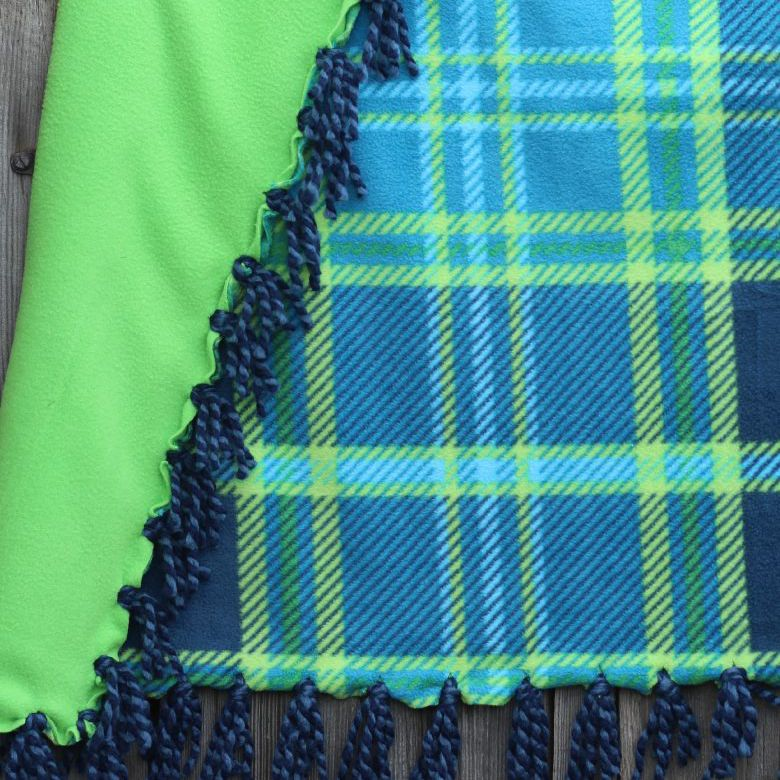 handmade yarn tassel blanket
