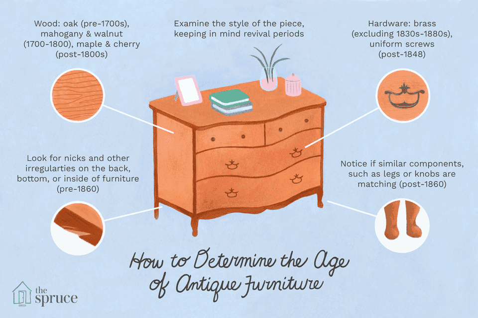 how to determine the age of antique furniture