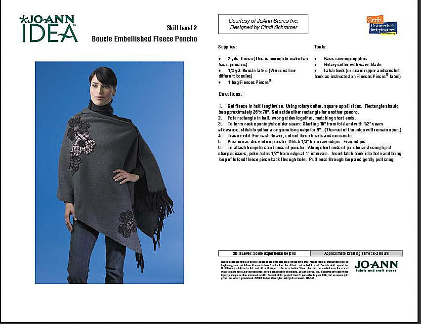 How Tosew A Poncho A Dozen Free Patterns And Instructions