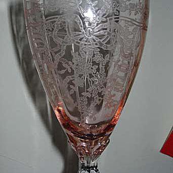 """Fostoria June Water Goblet 8 1/4"""""""