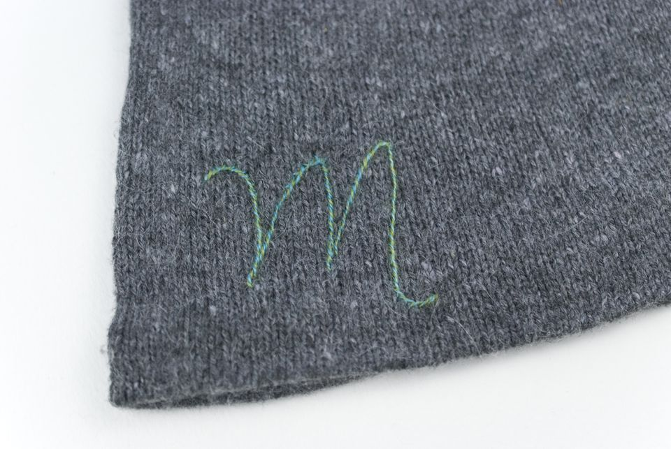 Stitching on knitwear