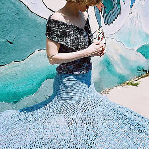 Spiderweb Crochet Skirt Free Pattern