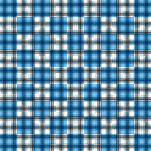 Blue and White Nested Checkerboard Baby Blanket