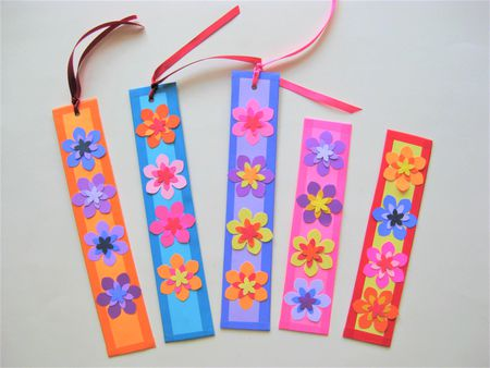 Gorgeous And Easy Paper Flower Bookmarks