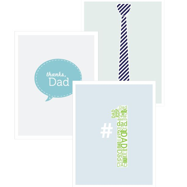 Three Designs of Father's Day Cards