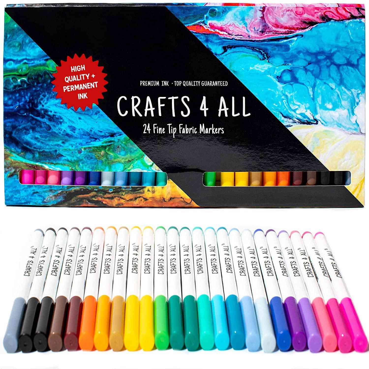 Crafts 4 All Fine Tip Fabric Markers