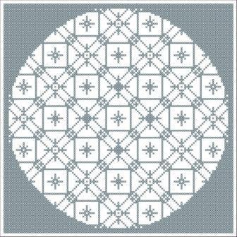 Free Mandala One Cross Stitch Pattern Design C 2009 Connie G Barwick