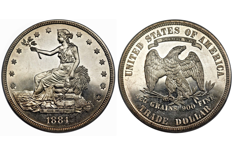 1884 Proof Trade Dollar