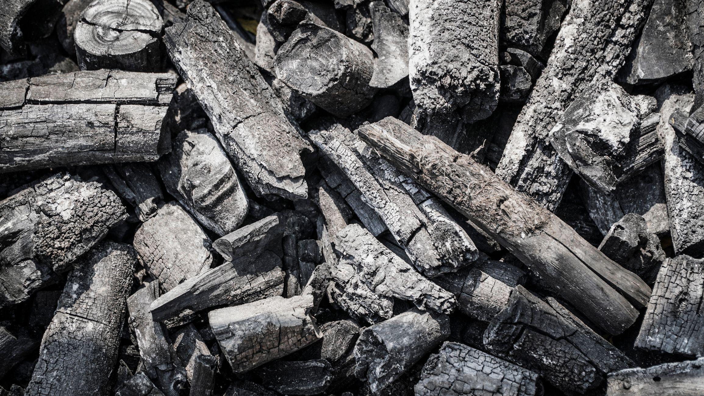 Wood ash.