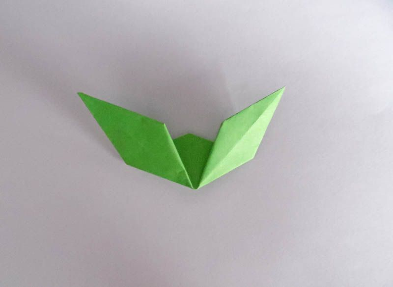 Instructions for an easy origami rose finish folding the leaves mightylinksfo