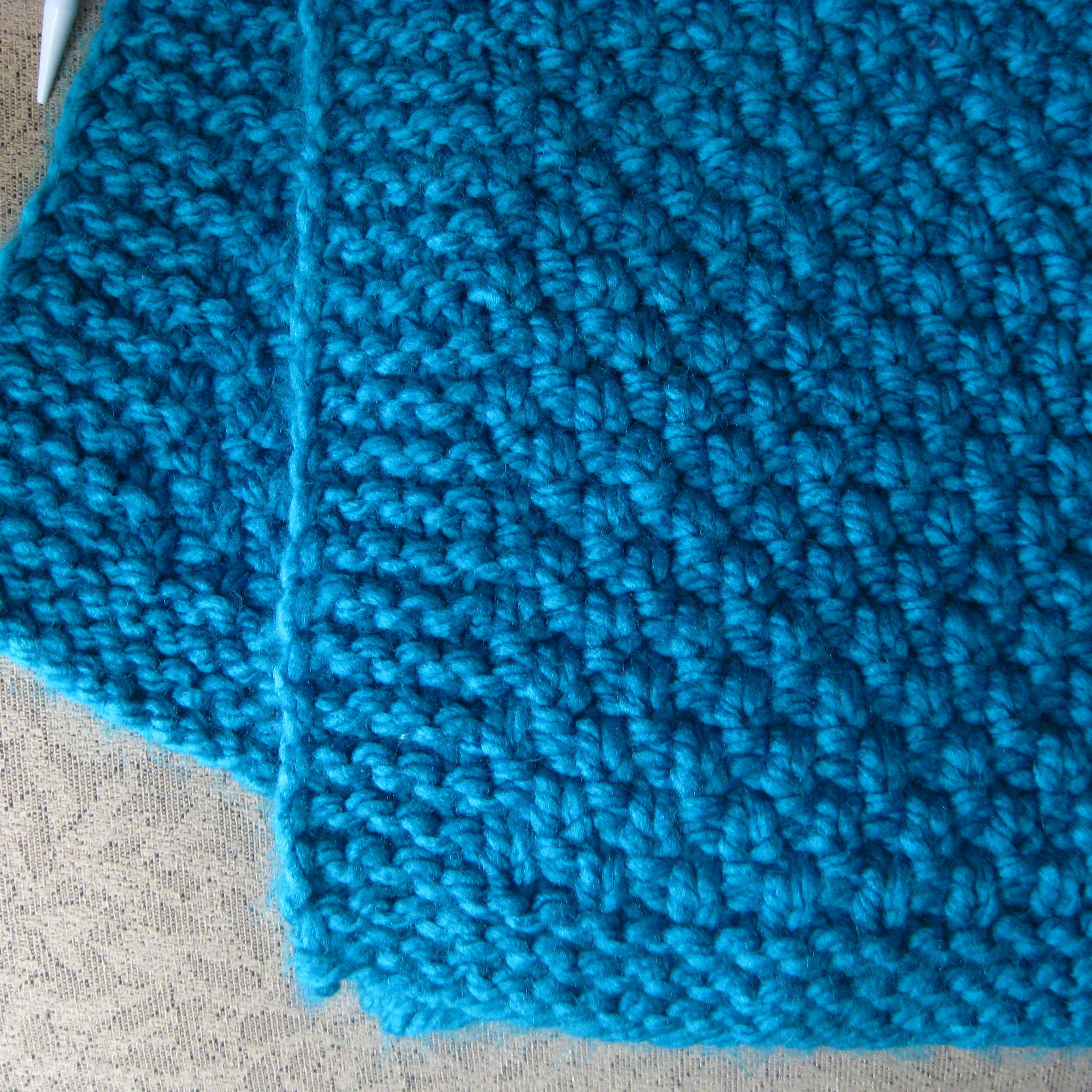 How To Knit A Moss Stitch Lap Afghan