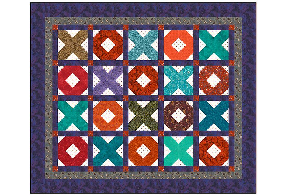 Resultado de imagem para X's and O's Baby Quilt