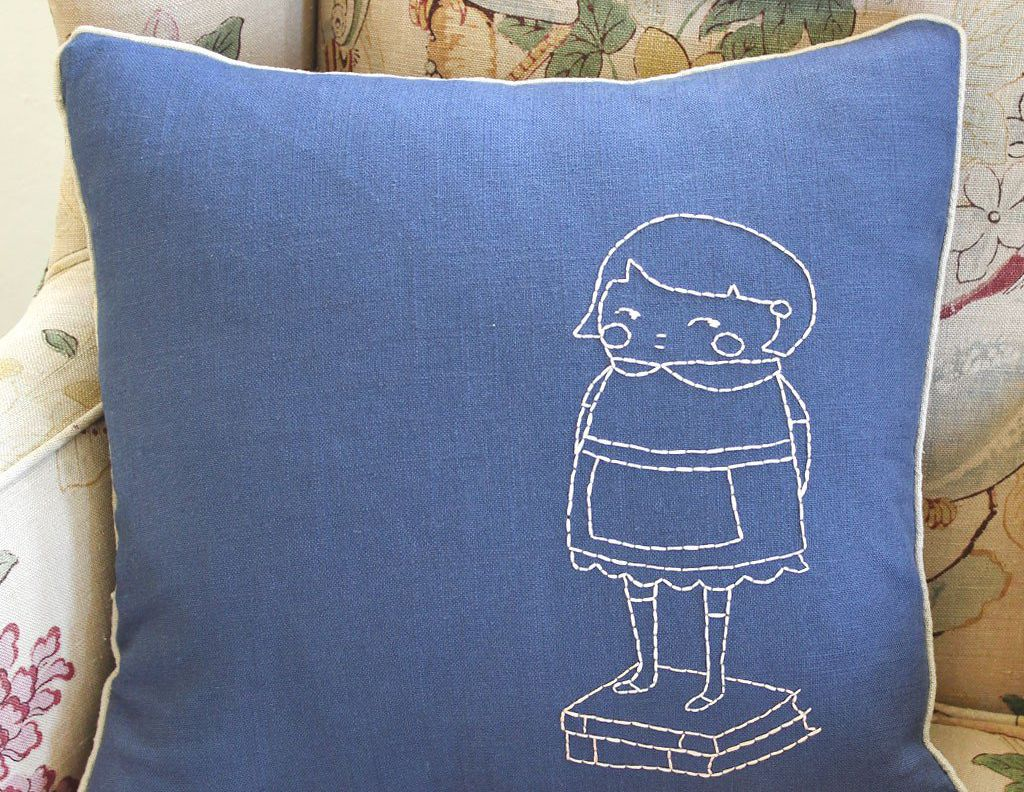 The Best Embroidery Kits To Buy For Beginners Pillow With Embroider Sweet Dream