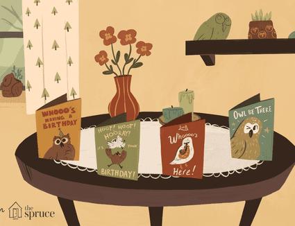 Illustration of owl motifs