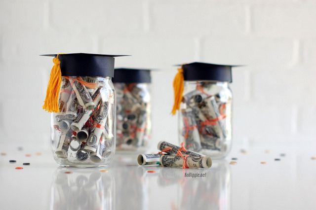 DIY Graduation Dollar Diplomas Gift Jar