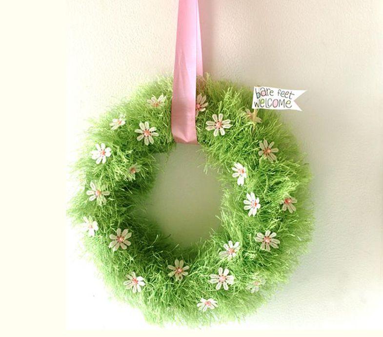 DIY Spring Grass Wreath