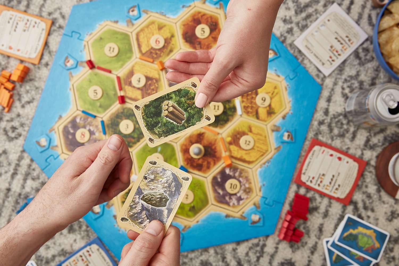 Catan board game trading