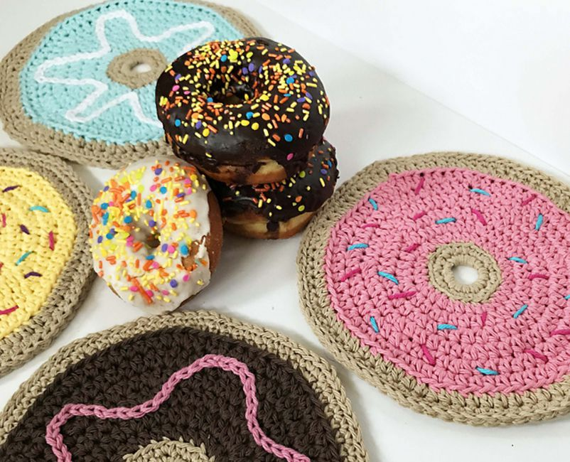 Donut Dishcloth Free Crochet Pattern