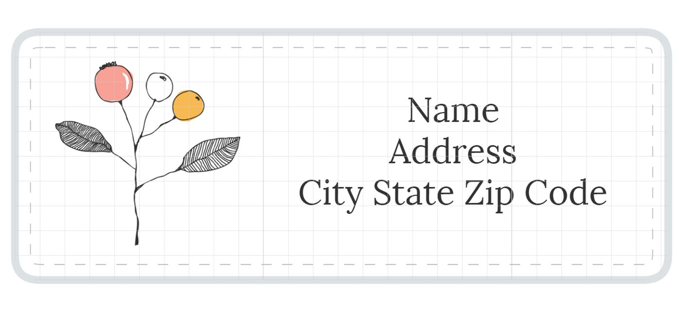 1789 address label templates a address label template with pink and orange flowers maxwellsz