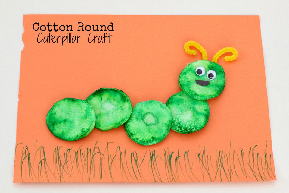 Cotton Round Caterpillar Craft