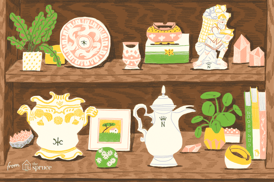 illustration of capodimonte italian porcelain marks