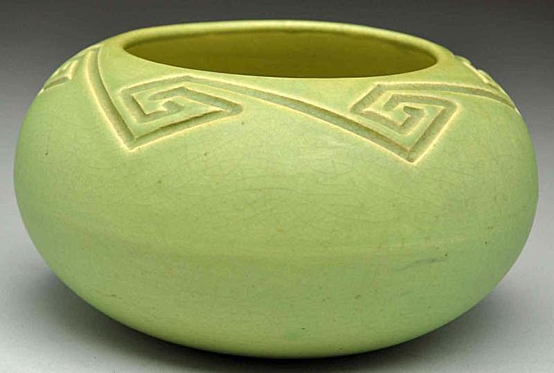 Rookwood Light Green Arts & Crafts Bowl