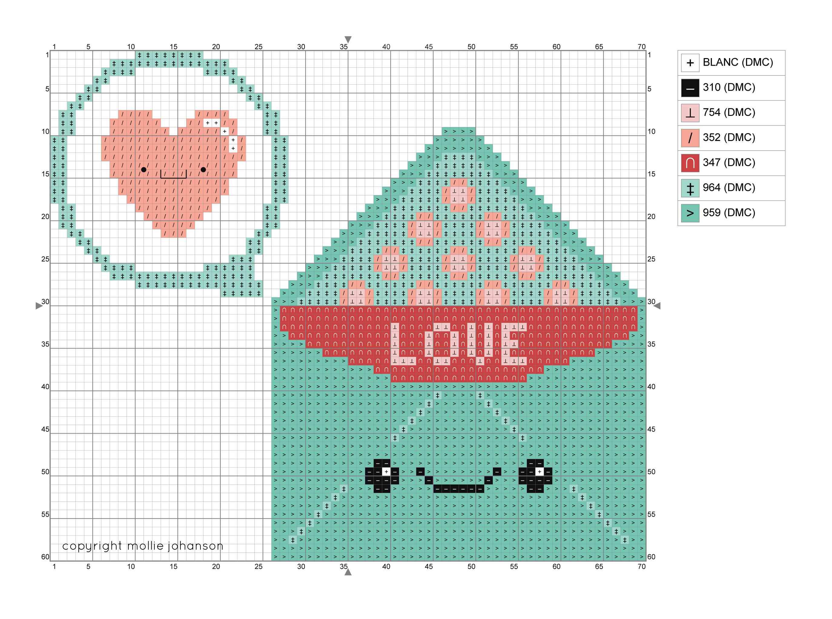 Happy Love Letter Cross Stitch Chart