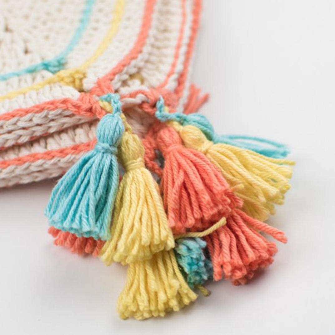 How to crochet a slip stitch (slst) - YouTube | 1074x1074
