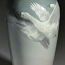 Rookwood Iris Glazed Geese Vase