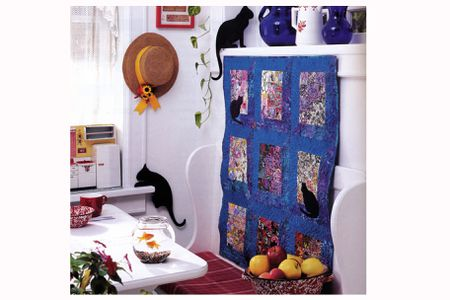 Watercolor Quilt Pattern With Easy Mitered Windows