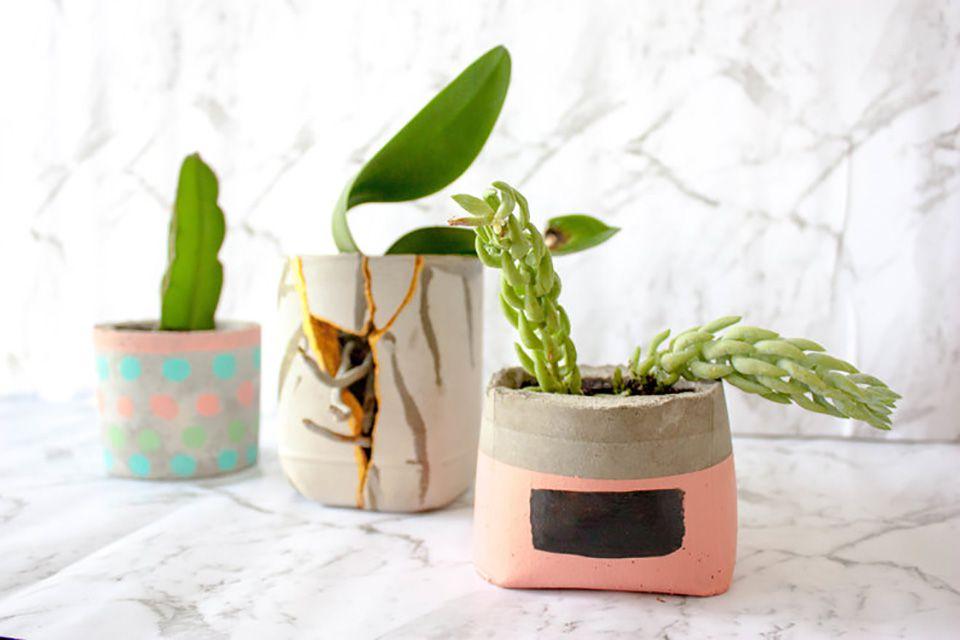 diy concrete planter tutorial