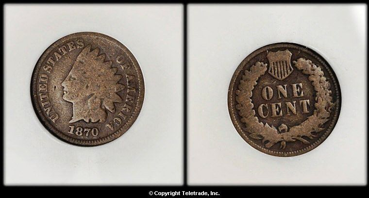 Indian Head Penny Graded Good (G04)