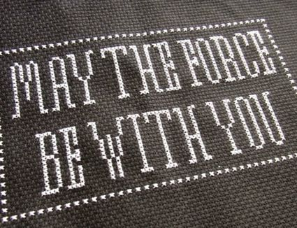 may the force be with you star wars cross stitch