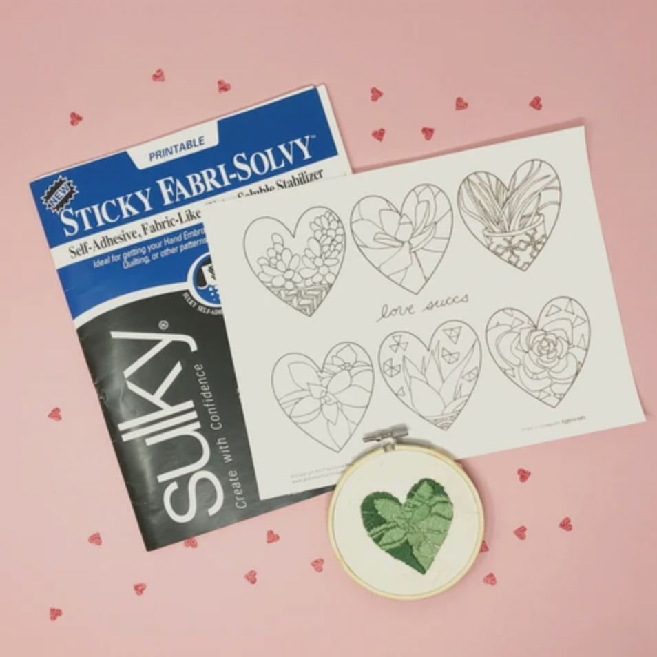 Love Succs Hand Embroidery Pattern