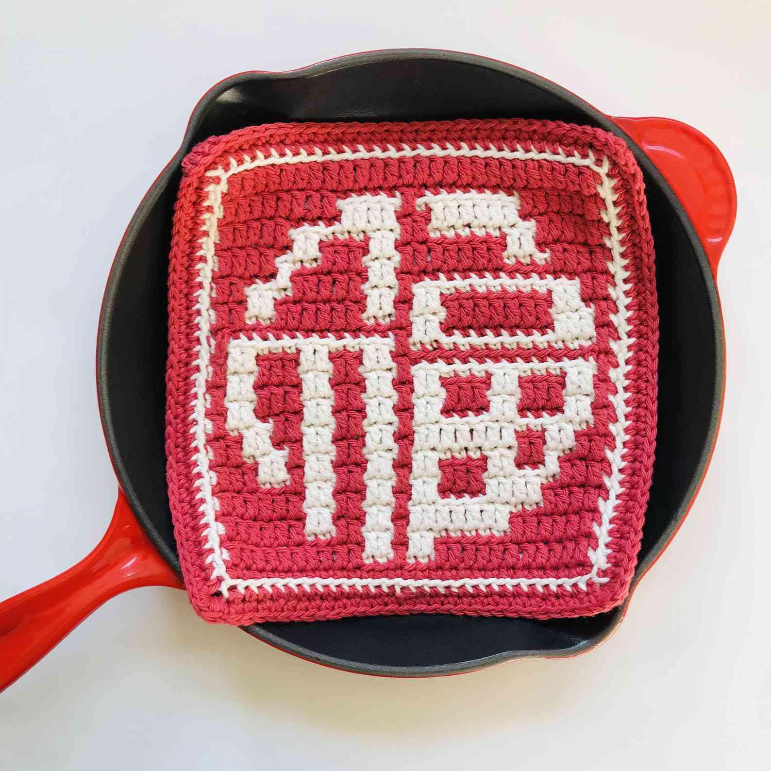 Fu Blessing Chinese Trivet Crochet Pattern