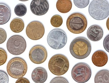 a variety of coins