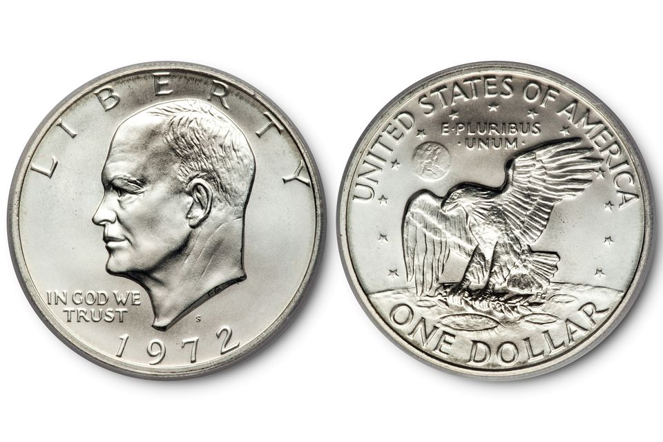 Top-Graded 1972-S Silver Ike, MS69