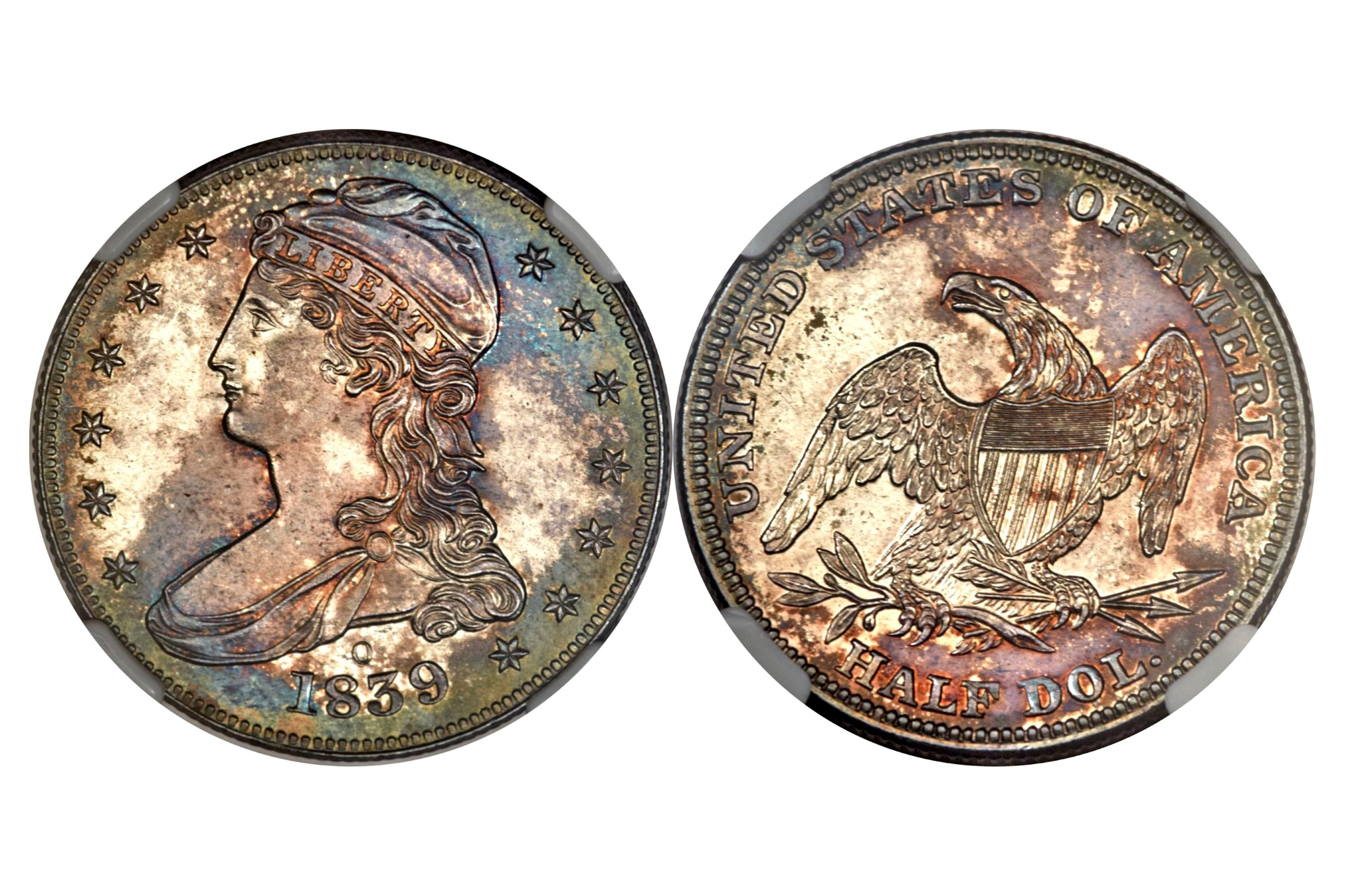 1839-O Proof Capped Bust Half Dollar