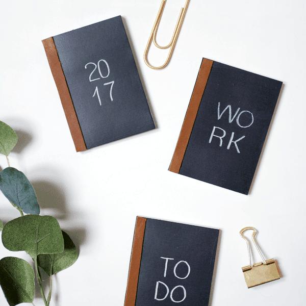 mini chalkboard notebooks