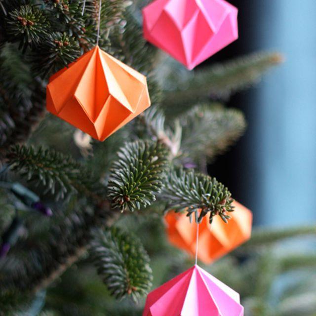 DIY Origami Diamond Ornament