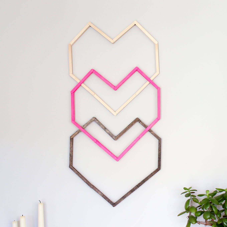 Geometric Heart DIY Wall Art