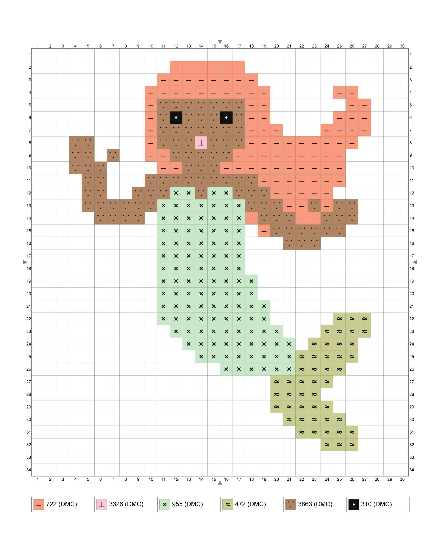 Beginner Mermaid Cross Stitch Chart