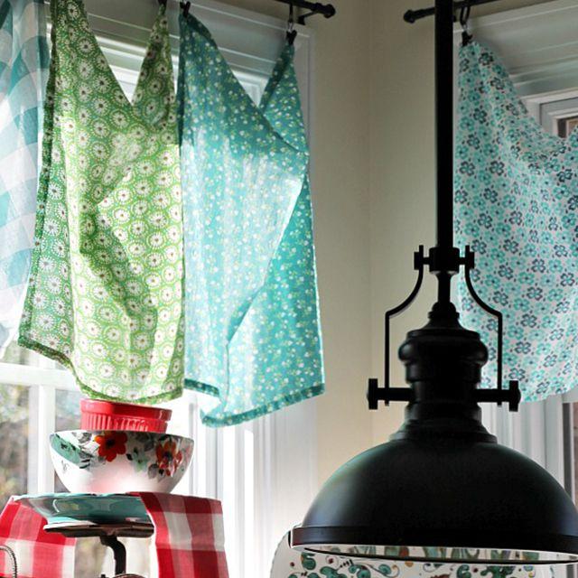tea towel kitchen curtains
