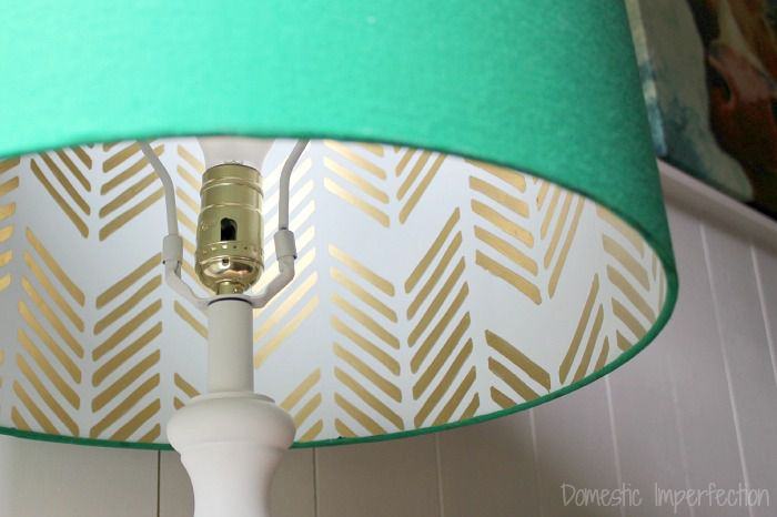 wallpaper lined lampshade
