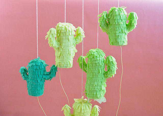 DIY Mini Cactus Pinatas